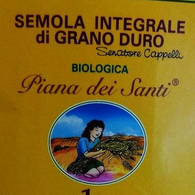 Semola integrale di grano duro Senatore Cappelli Bio Piana dei Santi ... 3e300edf5e5c